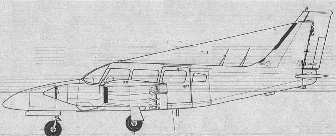 M-20 Mewa. Rysunek lewej strony. 1980r.