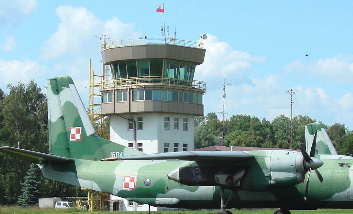 First airport control tower in Balice. 2008 year. Photo by Karol Placha Hetman