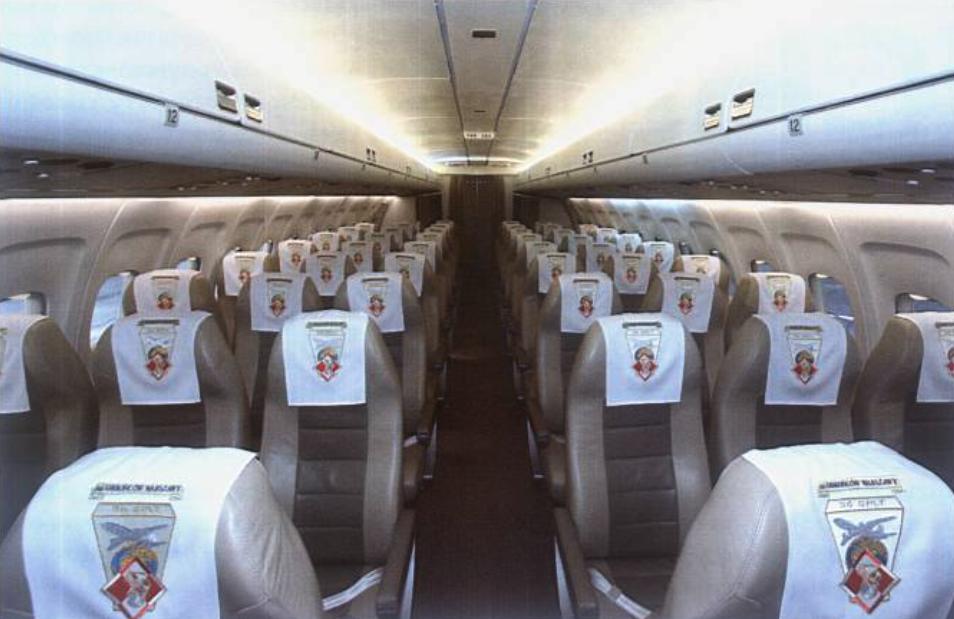 Tu-154 M nb 101 styczeń 2010 rok. Czwarty przedział. Zdjęcie LAC