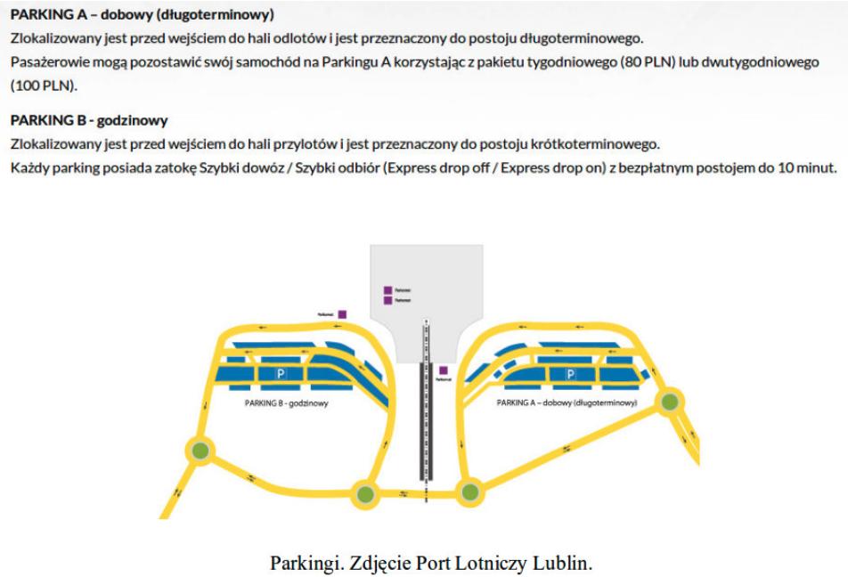 Port Lotniczy Lublin w Świdniku. Parkingi. 2016 rok. Zdjęcie Karol Placha Hetman