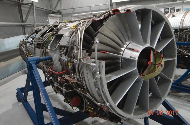 AL-7 F-1 engine without afterburner tube. Dęblin 2017. Photo by Karol Placha Hetman