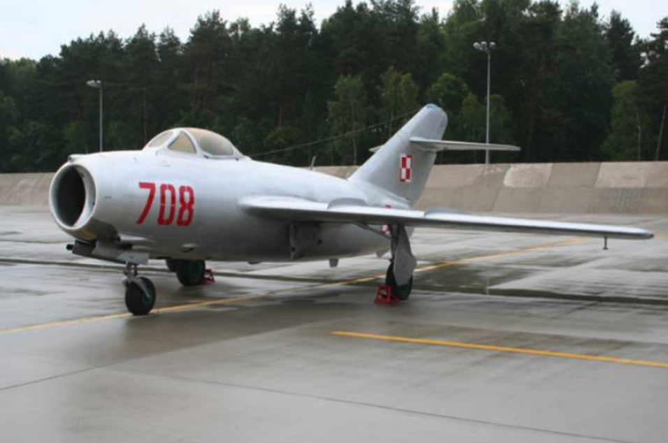 Lim-2 nb 708, Airport Łask. 2009 year. Photo of LAC