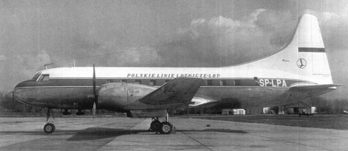 Convair CV-240-12 rejestracja SP-LPA 1958 rok. Lotnisko Okęcie. Zdjęcie PLL LOT
