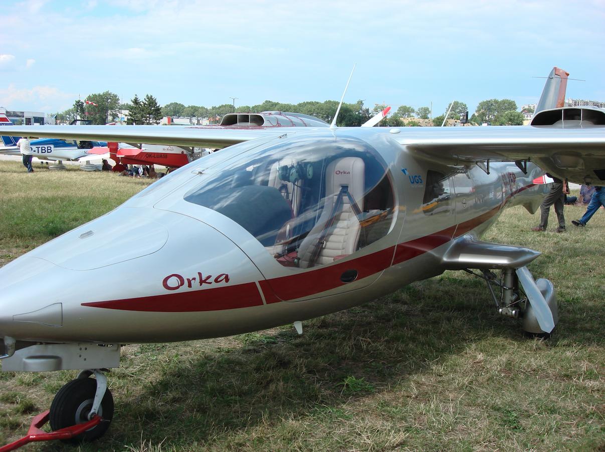Samolot turystyczny Orka. 2007 rok. Zdjęcie Karol Placha Hetman