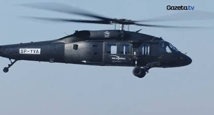 Black Hawk podczas oblotu. 2010r.