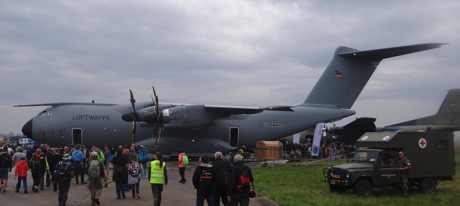 Airbus A-400M Nb 54x04 German Air Force. 2016 rok. Zdjęcie Karol Placha Hetman