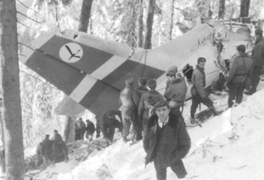 An-24 W registration of SP-LTF after a disaster. 1969. Photo of LAC