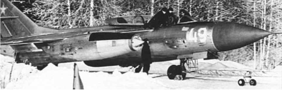 Jak-28 P nb 49 o prędkości naddźwiękowej na lotnisku. 1975 rok. Zdjęcie LAC