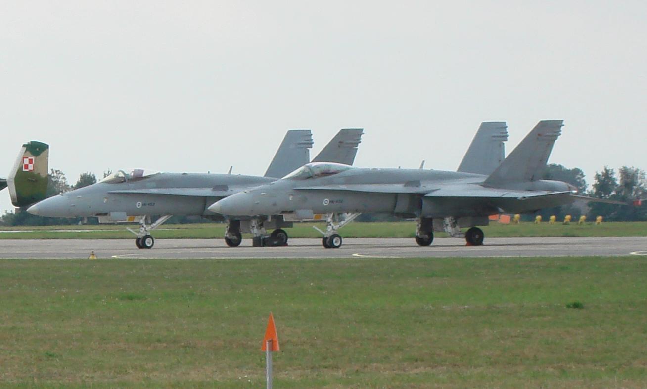 F-18. Finlandia. 2007 rok. Zdjęcie Karol Placha Hetman