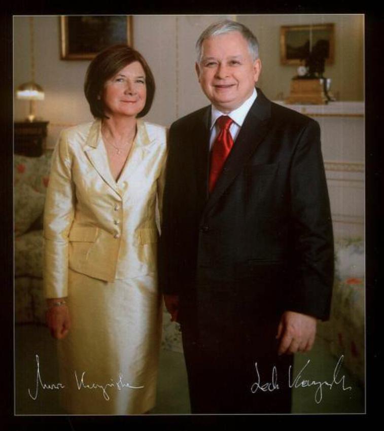 Presidential Couple: Lech and Maria Kaczyński. Photo of Our Journal
