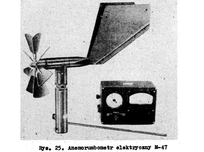 """Wiatromierz M-47, fotografia z """"Przyrządy do pomiarów hydrologiczno-meteorologicznych"""""""