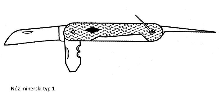 Nóż minerski typ 1. Zdjęcie Marek Kaiper