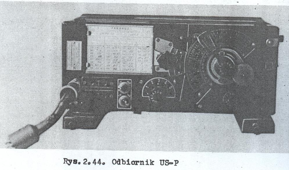 Odbiornik US-P  fotografia z instrukcji radiolatarni