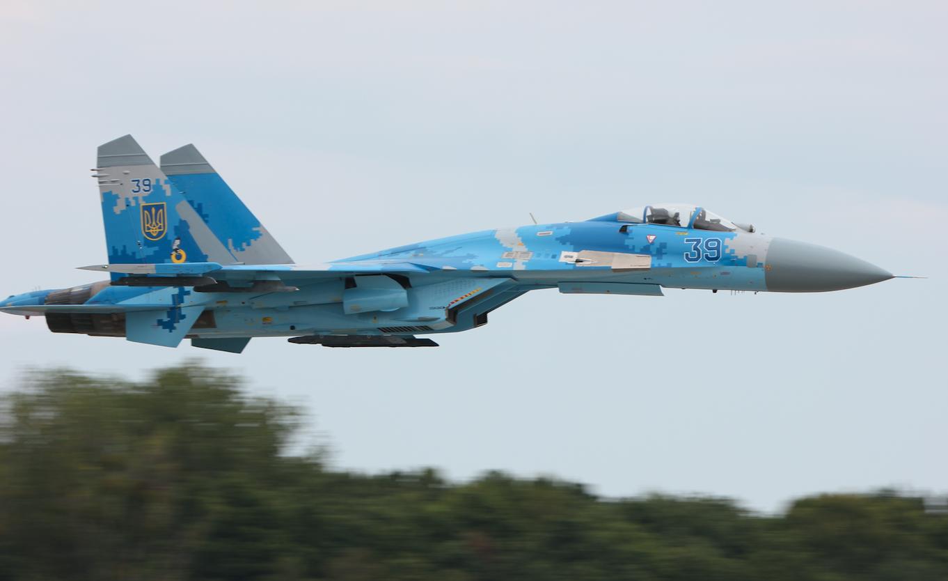 Suchoj Su-27 nb 39. Babie Doły 2019 rok. Zdjęcie Waldemar Kiebzak
