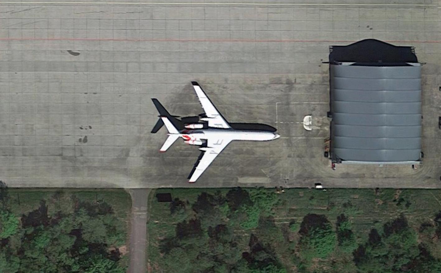 Tu-154 M nb 102. 2019 rok. Zdjęcie z Gogle