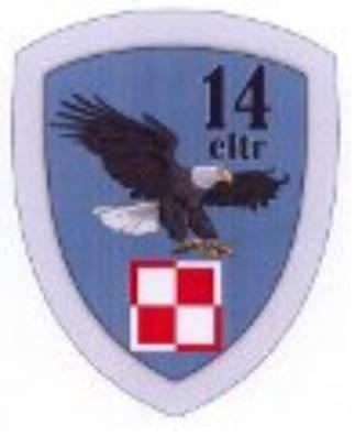 14 ELTr posiada własną odznakę pamiątkową zatwierdzoną decyzją nr 240/MON z 15.07.2009r.