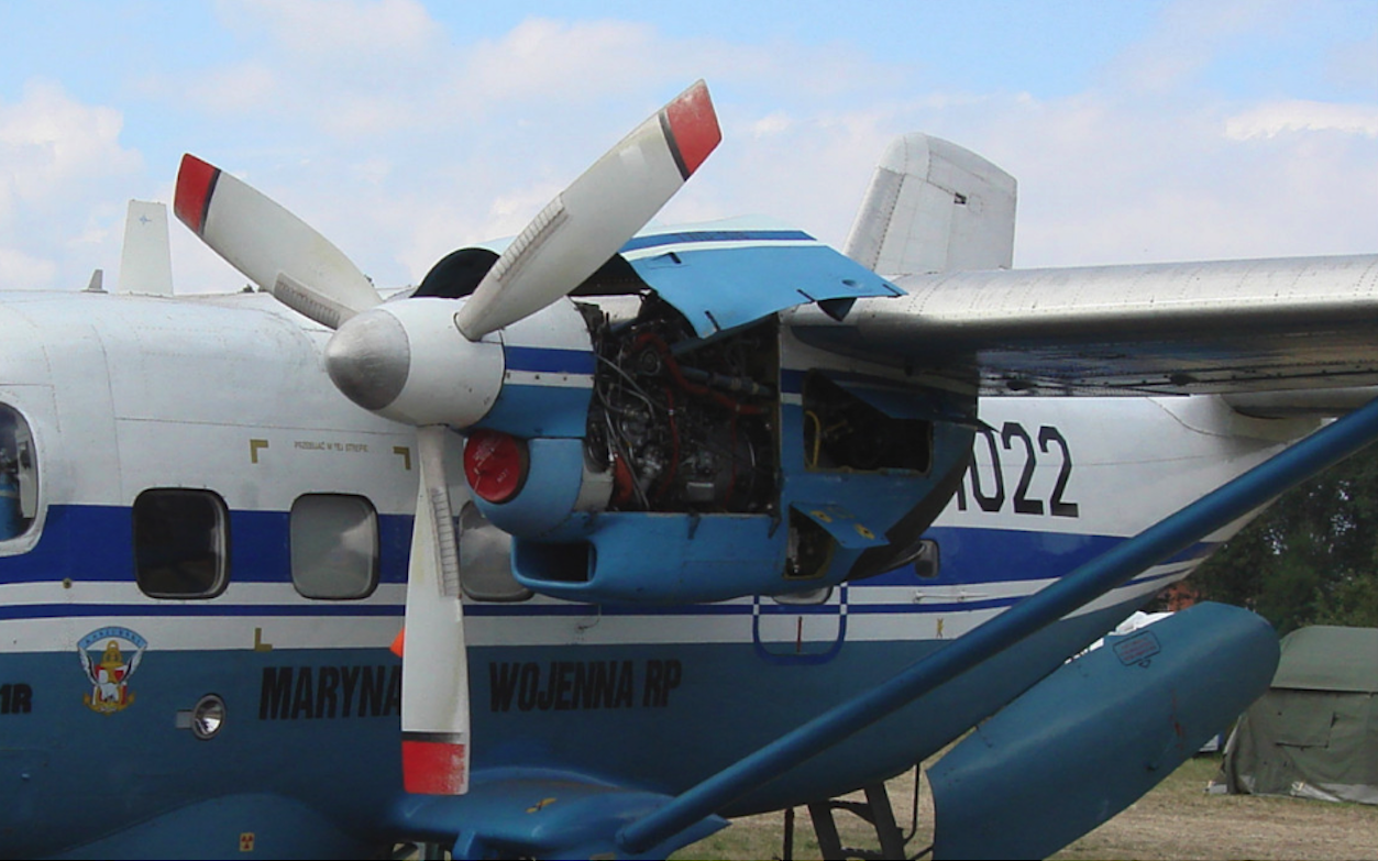 PZL M-28 with TWD-10 B engines and a 3-blade Dowty propeller. 2007. Photo by Karol Placha Hetman