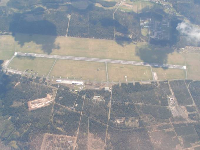 Lotnisko Siemirowice. Widok w kierunku południowym. 2006r.