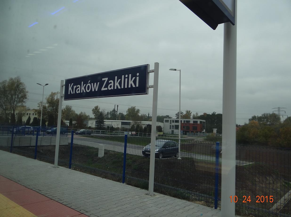 Stacja kolejowa Kraków Zakliki. 2015 rok. Zdjęcie Karol Placha Hetman
