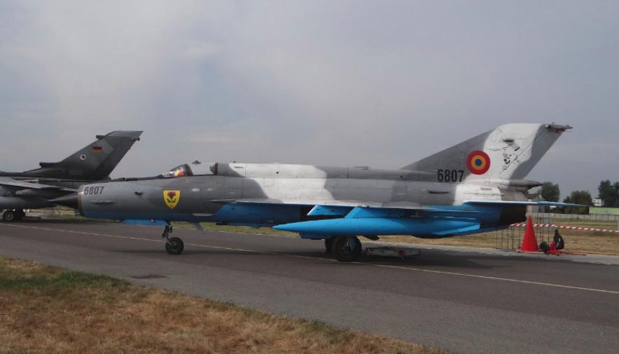 Romanian MiG-21 Lancer nb 6807 aircraft. Radom 2015. Photo by Karol Placha Hetman