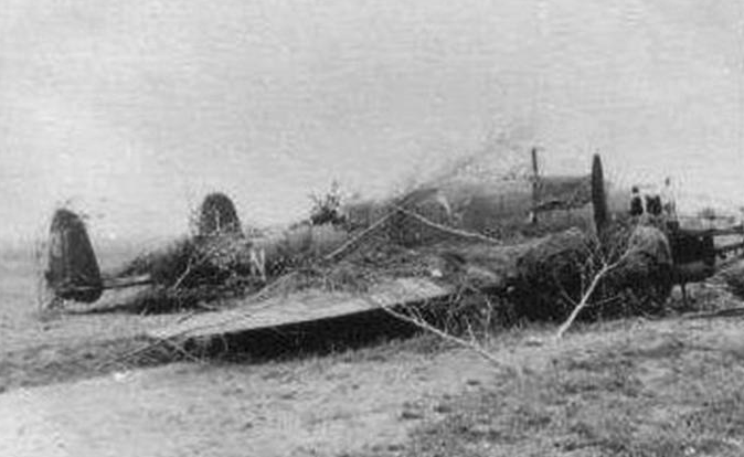 PZL-37 B after a forced landing, the crew began masking. 1939.