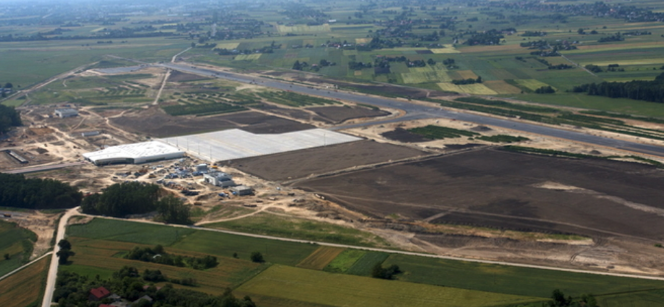 Budowa Lotniska Lublin-Świdnik. 2012 rok. Zdjęcie LAC