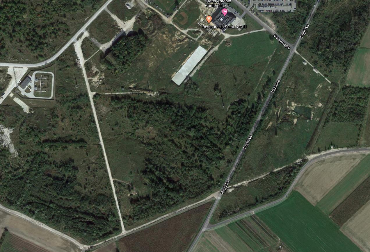 Teren niemieckiego obozu jenieckiego. 2020 rok. Zdjęcie LAC