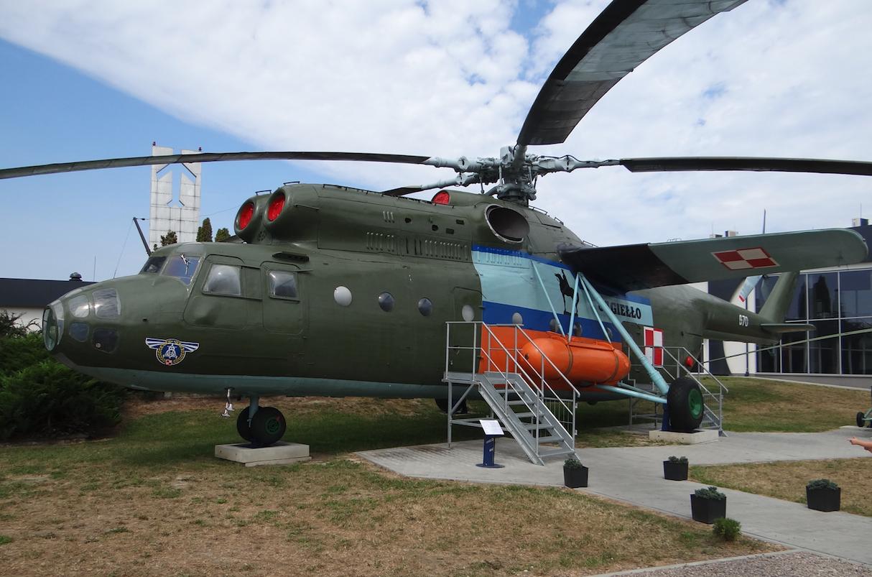Mil Mi-6 A nb 670 w Muzeum Sił Powietrznych w Dęblinie. 2017r. Zdjęcie Karol Placha Hetman