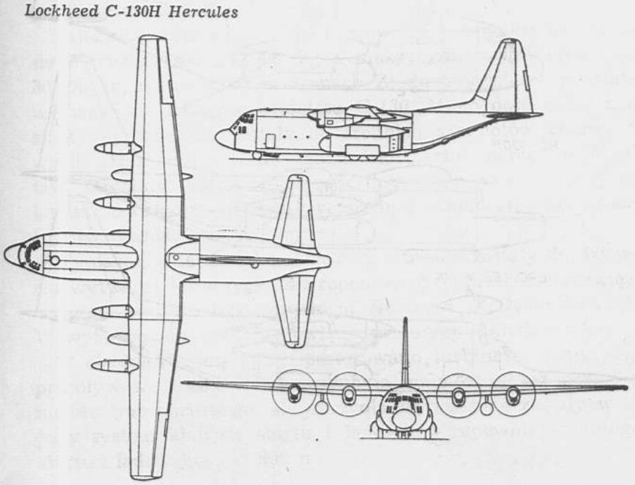 Lockheed C-130 E Hercules. 1979 rok. Rysunek LAC