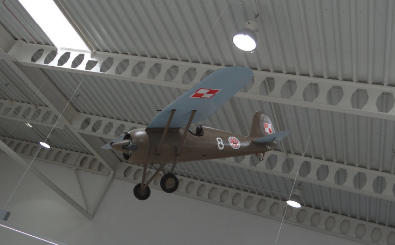 Model samolotu PZL P.7 w terminalu. 2016 rok. Zdjęcie Karol Placha Hetman