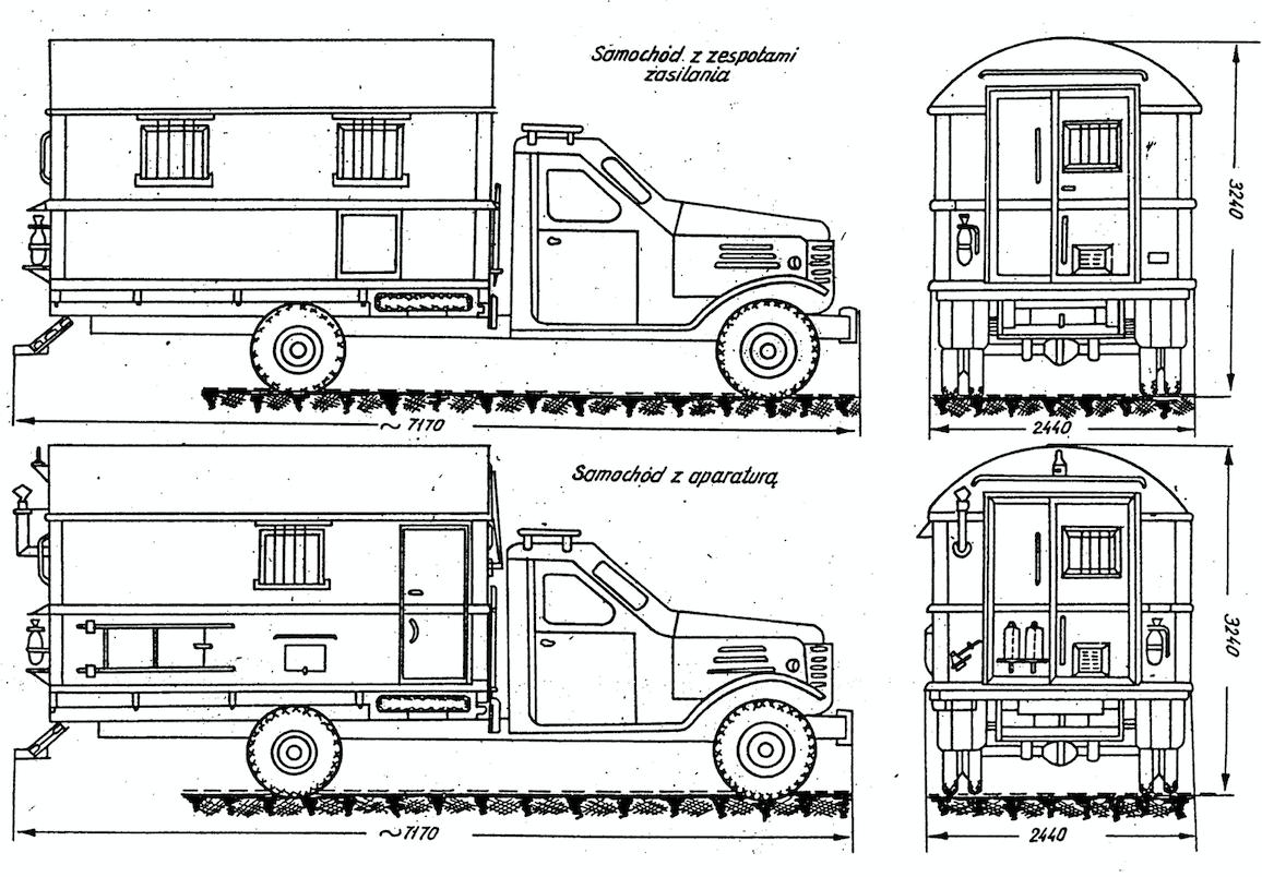 Radiolatarnia PAR-7s rysunek z instrukcji
