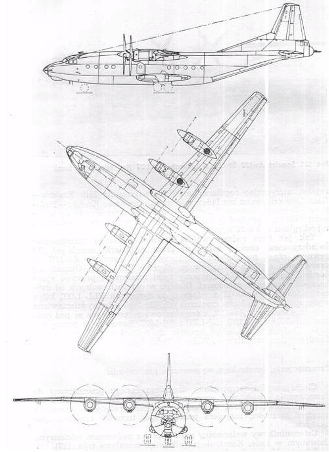 An-12 rysunek 1975 rok. Zdjęcie LAC