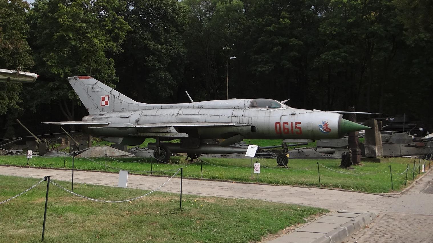 MiG-21 PF nb 0615. Warszawa 2012 year. Photo by Karol Placha Hetman