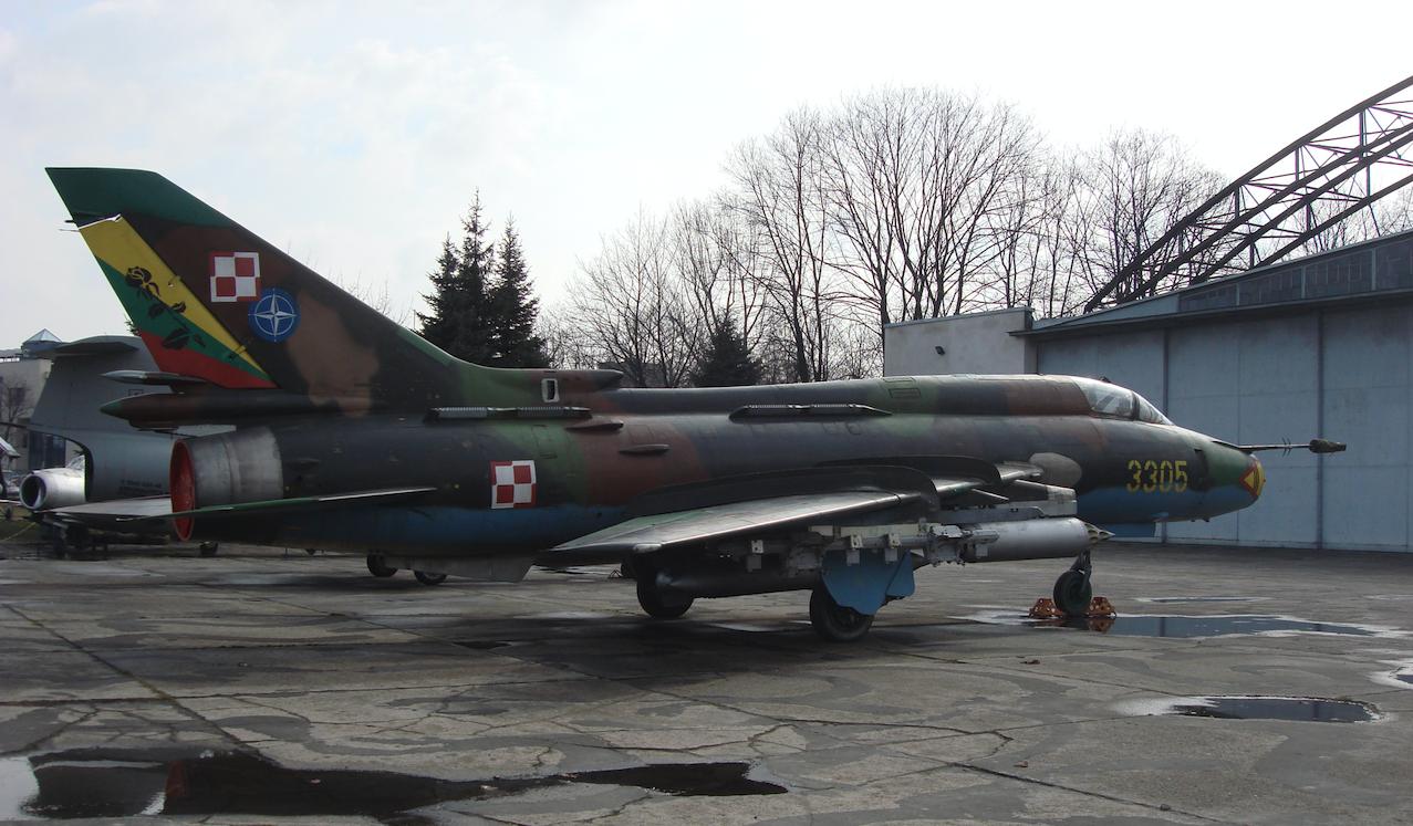 Su-22 M 4 K nb 3305 muzeum Czyżyny 2009 rok. Zdjęcie Karol Placha Hetman