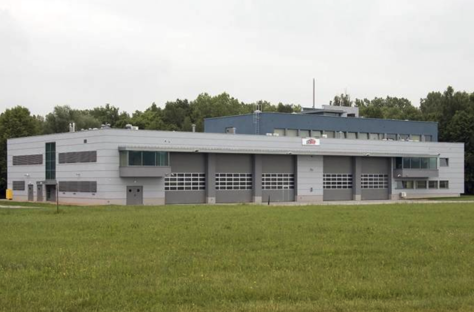 Building of the Airport Fire and Rescue Guard. 2009 year. Photo by Karol Placha Hetman