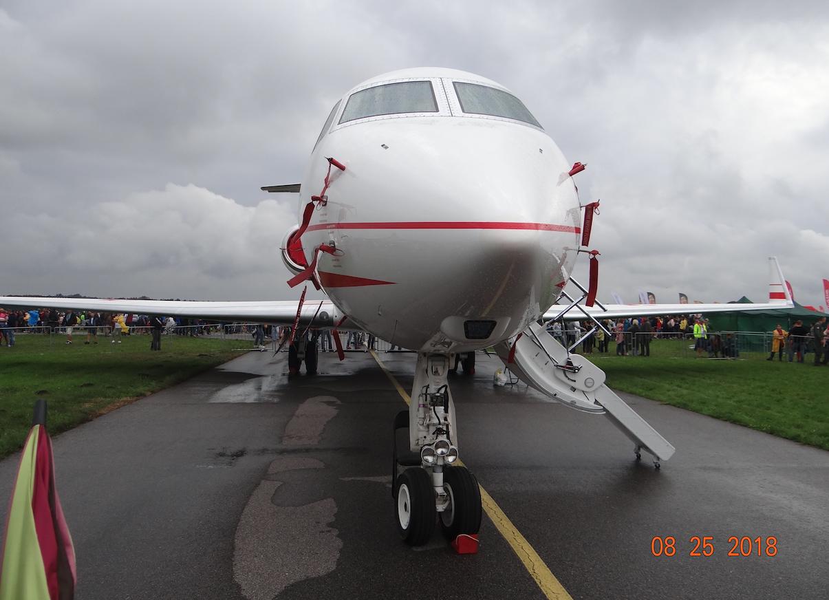 """G550Gulfstream Aerospace Nb 0001 """"Książę Józef Poniatowski"""". 2018 rok. Zdjęcie Karol Placha Hetman"""