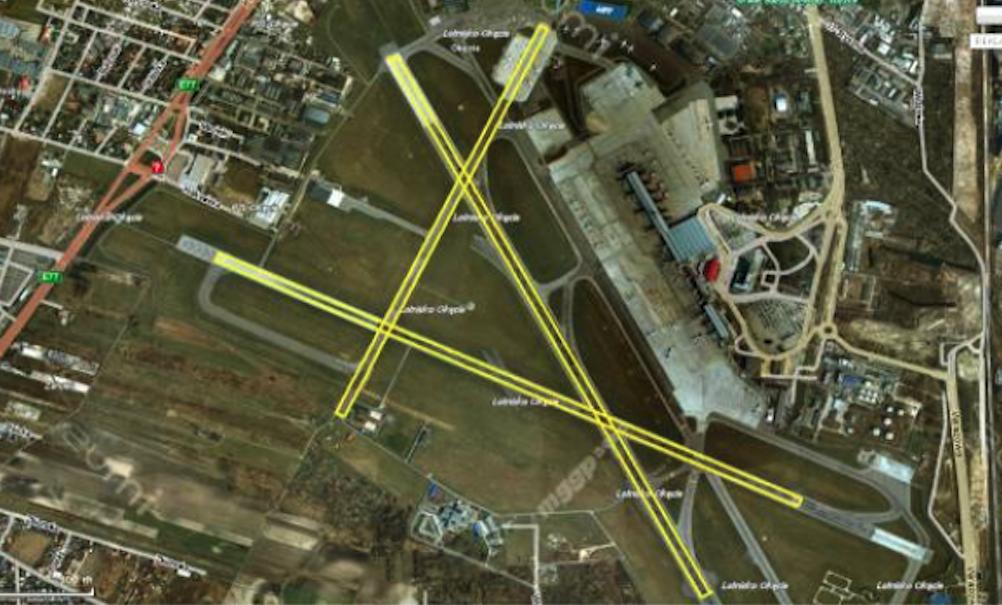 The original DS (RWY) system at Okęcie Airport. Around 1950. Photo of google