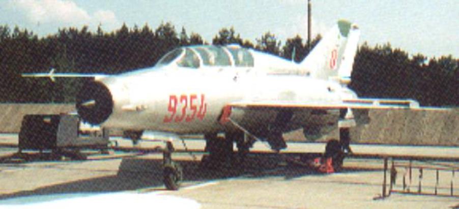Ostatni MiG-21 UM nb 9354 sprowadzony do Polski. Zdjęcie LAC