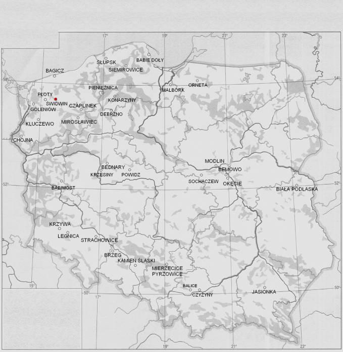 Lotnisko Świdwin na mapie Rzeczypospolitej. 2011r.