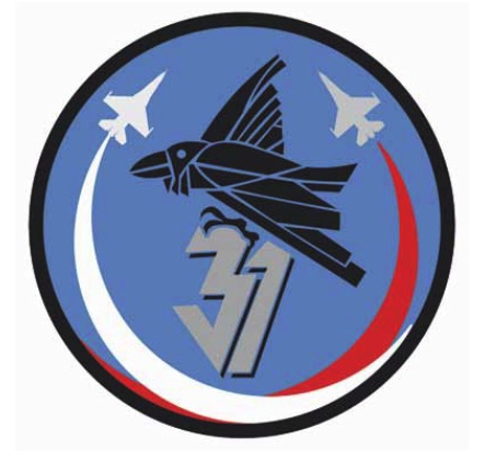 The emblem the 31st Air Base in Krzesiny