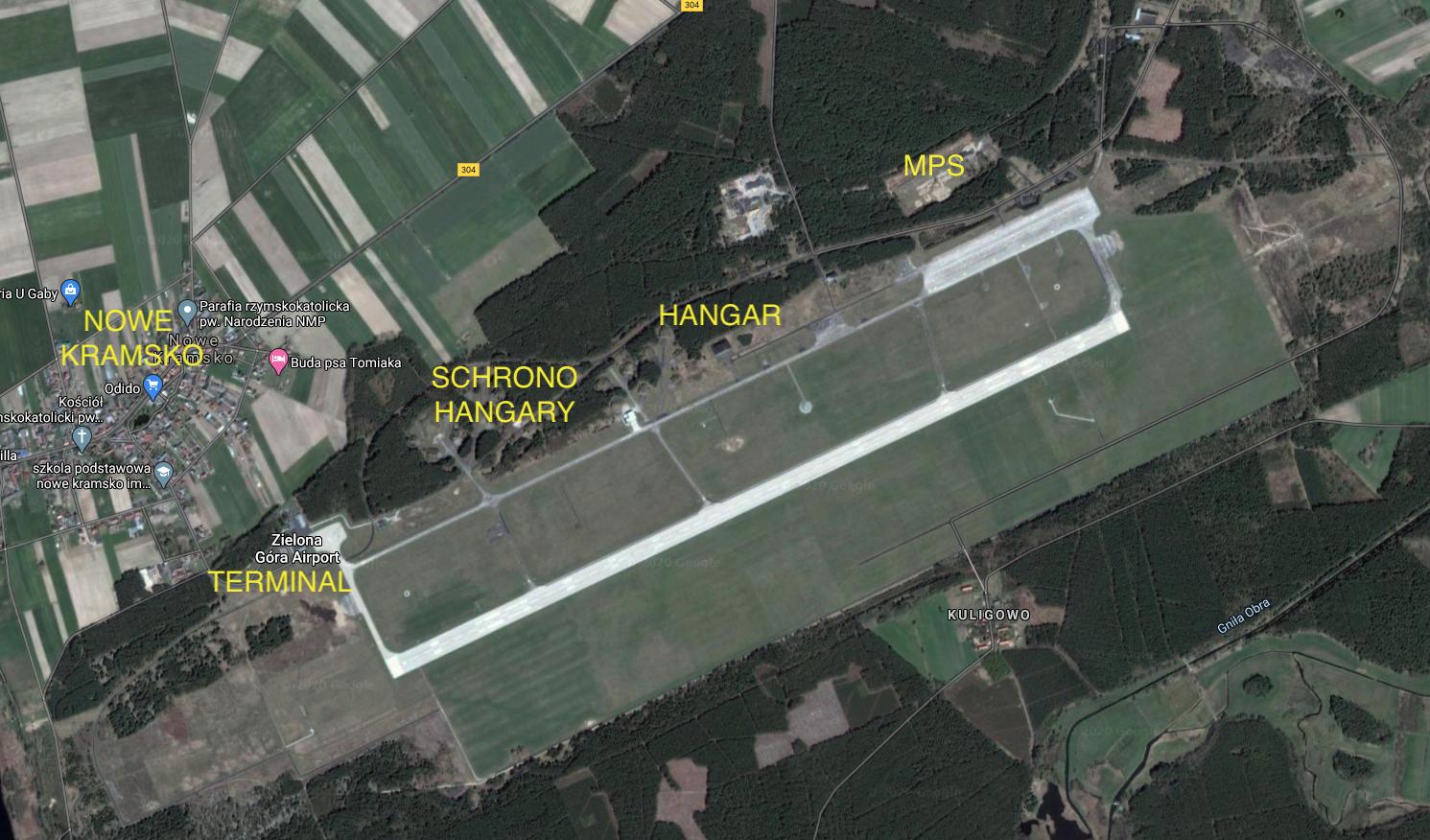 Lotnisko w Babimoście. 2010 rok. Zdjęcie google