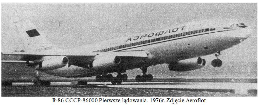 Ił-86 nb 347 CCCP-86000. 1976 rok. Zdjęcie Aerofłot