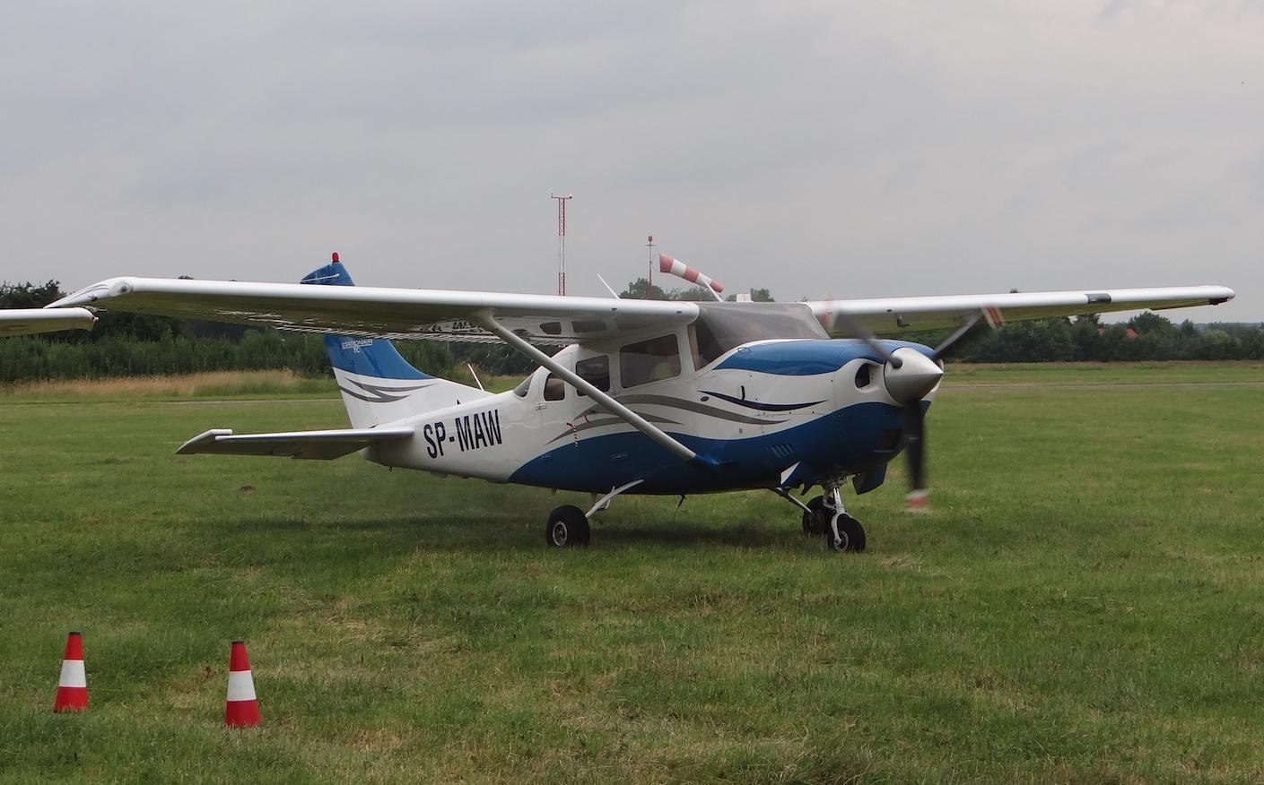 Cessna T206H Turbo Stationair rejestracja SP-MAW. 2021 rok. Zdjęcie Karol Placha Hetman