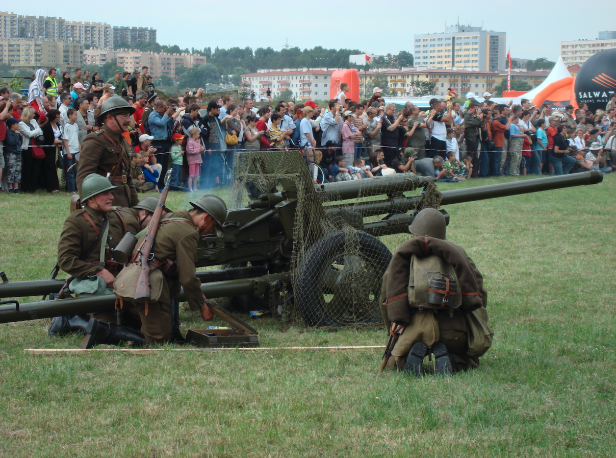 Inscenizacja bitwy o Normandię. 2007 rok. Zdjęcie Karol Placha Hetman