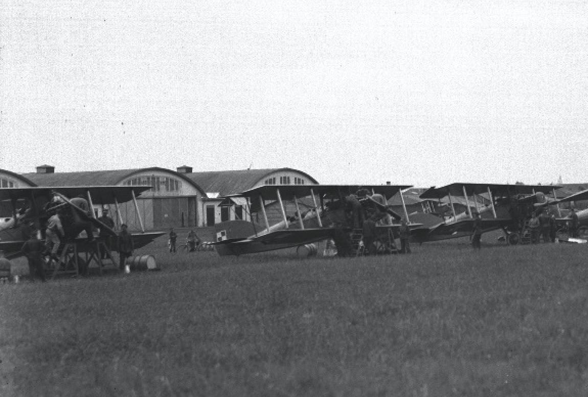 Potez XV na lotnisku w Krakowie, Rakowice-Czyżyny. 1925 rok. Zdjęcie LAC