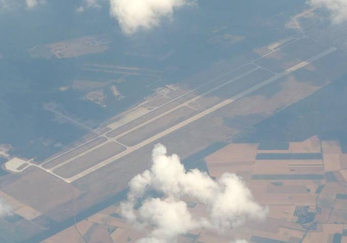 Lotnisko Powidz widok z samolotu. 2009r.