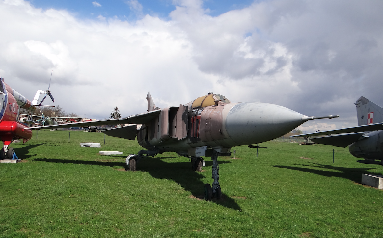 MiG-23 MF nb 117. Dęblin 2017 rok. Zdjęcie Karol Placha Hetman