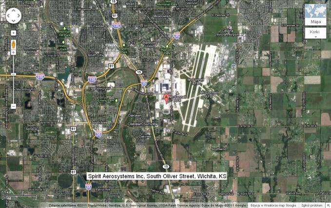 Fabryka Spirit Aero-System, Wichita stan Kansas. 2011r.
