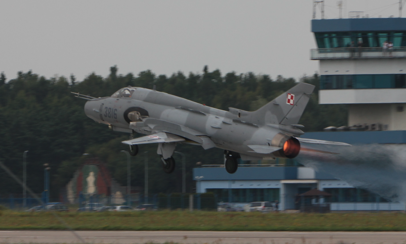 Suchoj Su-22 nb 3816. Babie Doły 2019 rok. Zdjęcie Waldemar Kiebzak