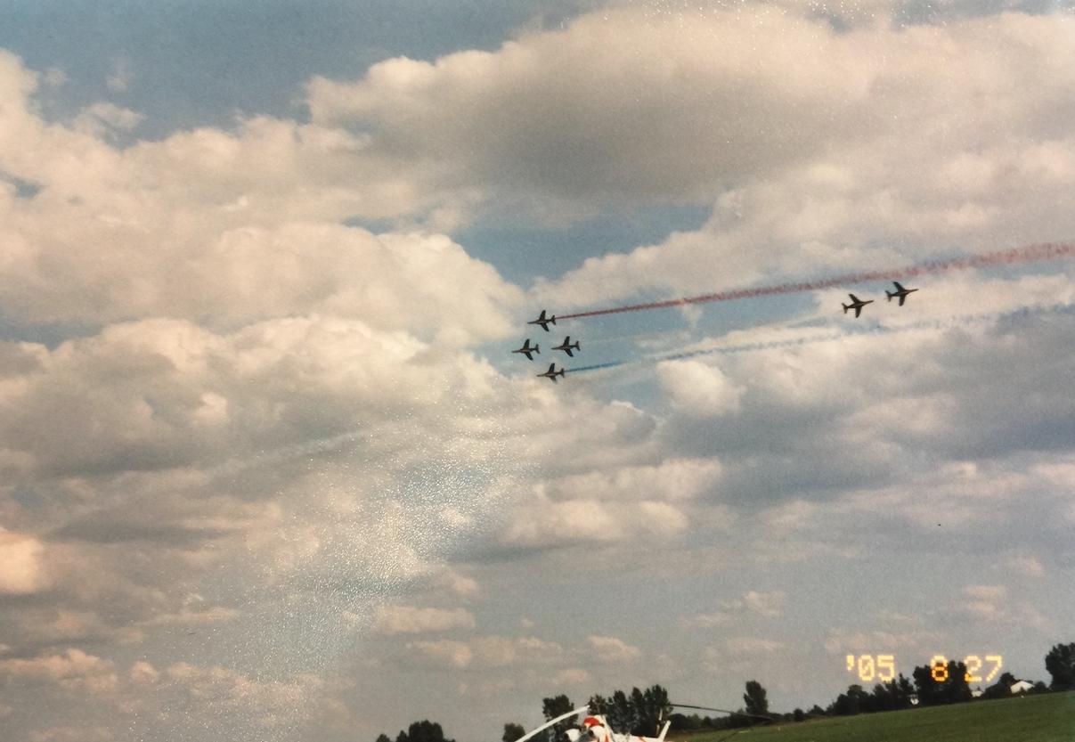 Zespół Patrouille de France. Radom 2005 rok.Zdjęcie Karol Placha Hetman